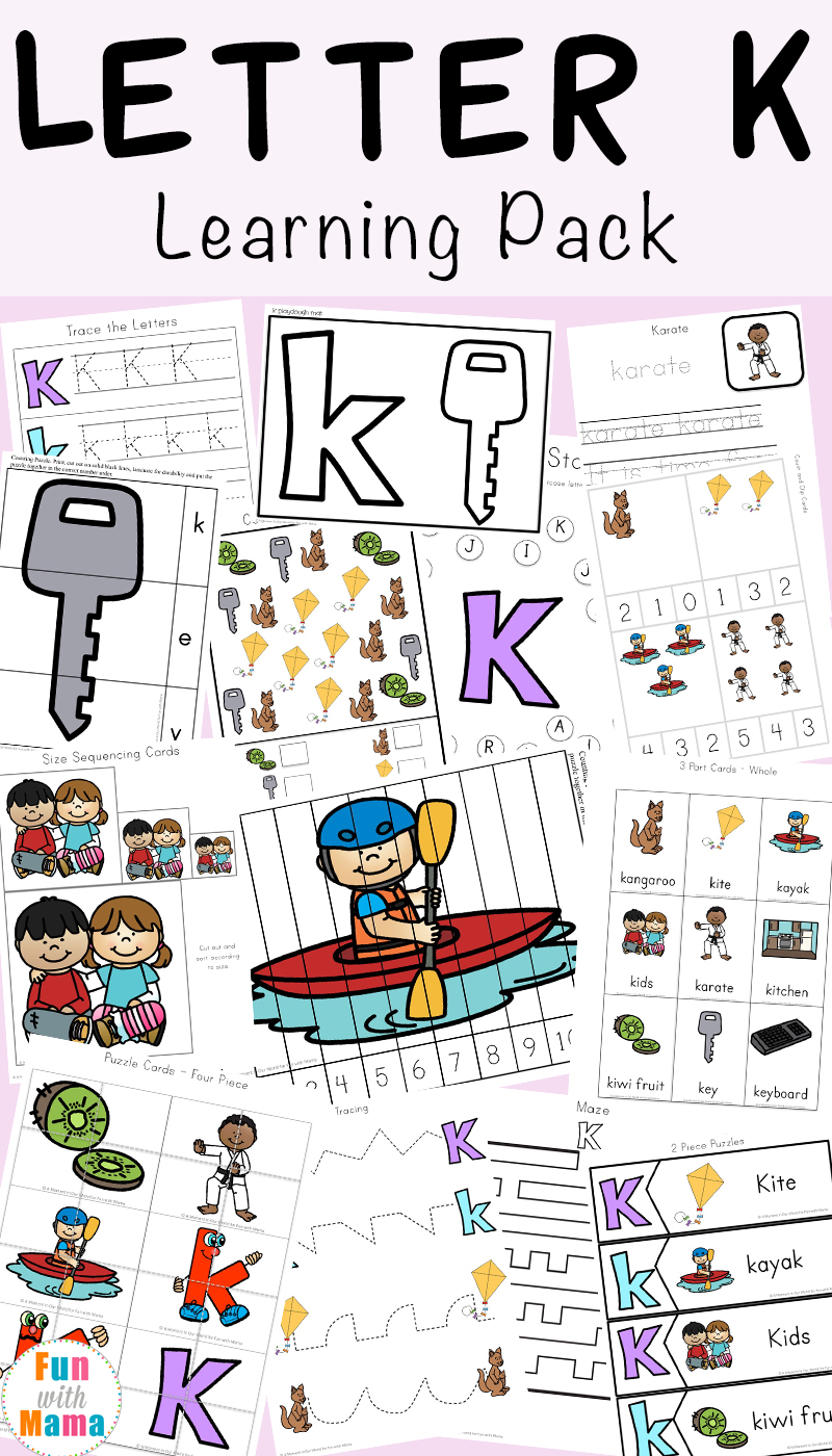 picture relating to Letter K Printable identify Letter K Worksheets - Pleasurable with Mama