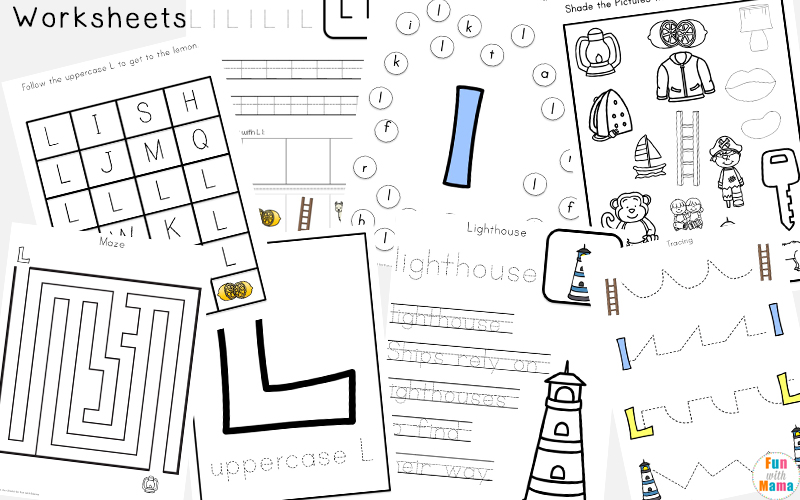 Letter L Activities for Preschool Kindergarten Pack Fun with Mama – L Worksheets