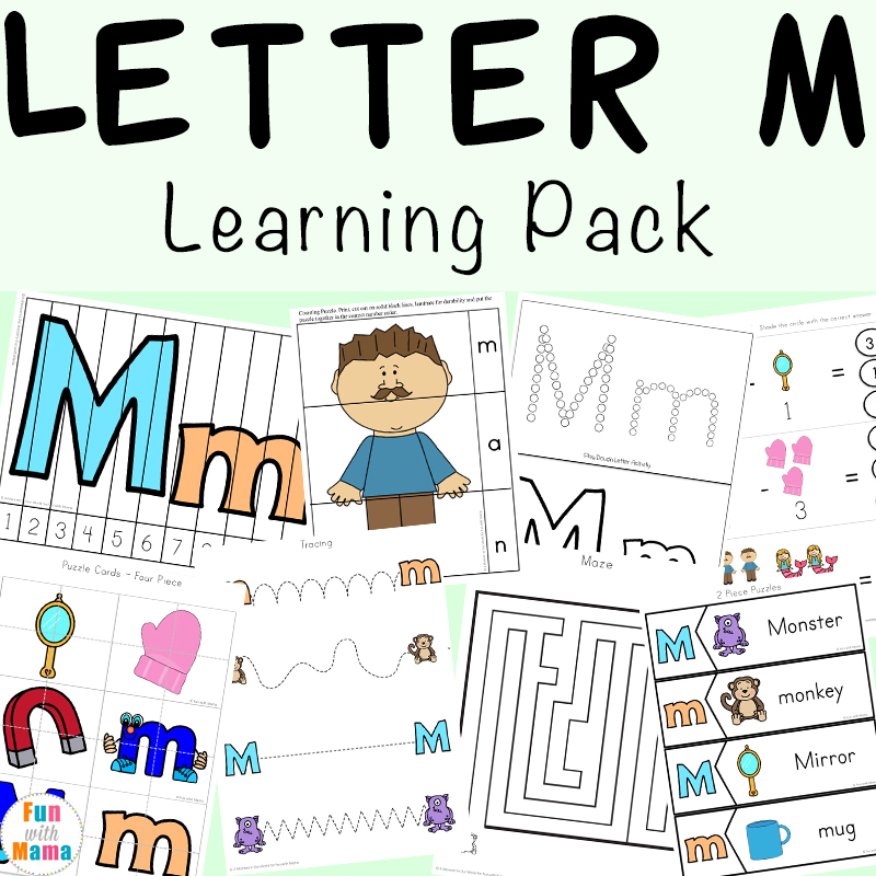 Letter M Worksheets - Fun with Mama