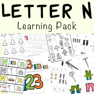 Free printable letter n activities, worksheets, crafts and learning pack.