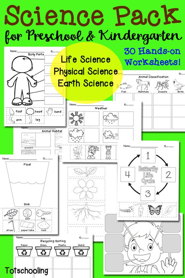 Preschool Science Activities And Worksheets : Printable back to school preschool mega bundle fun with mama