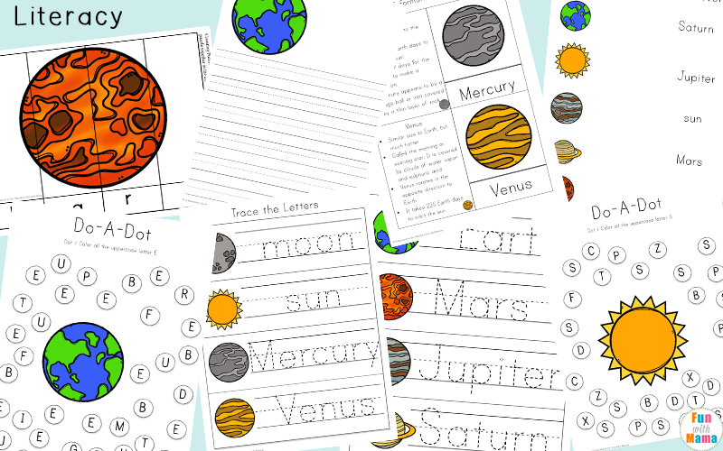 This printable pack is out of this world! Kids will have a blast working on their literacy, numeracy and handwriting skills with this free Solar System PrintablePack.