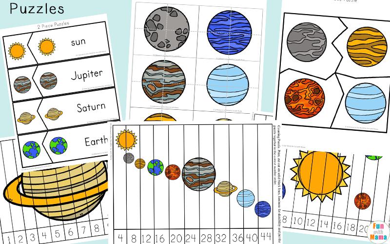 solar system printable pdf