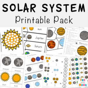 This printable pack is out of this world! Kids will have a blast working on their literacy, numeracy and handwriting skills with this free Solar System Printable Pack.