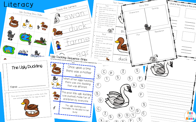 The Ugly Duckling activities for first grade