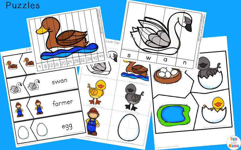 The Ugly Duckling activities for preschool