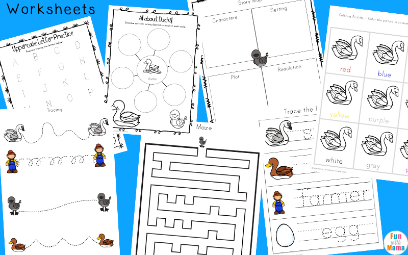 The Ugly Duckling Worksheets