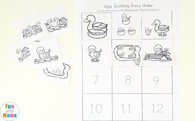 The Ugly Duckling Sequencing worksheet