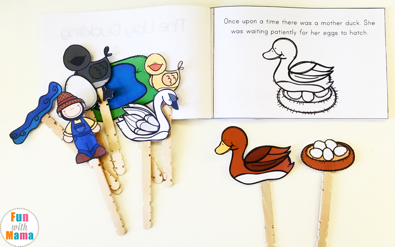 The Ugly Duckling Printable Story book