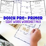 Free Dolch Pre-Primer Sight Words Worksheets
