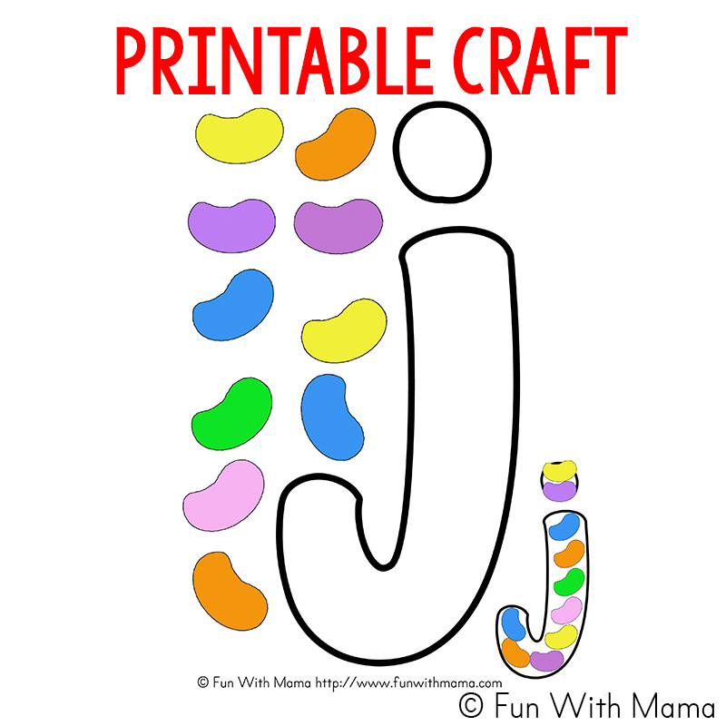 letter j craft template  Letter J Worksheets + Activities - Fun with Mama