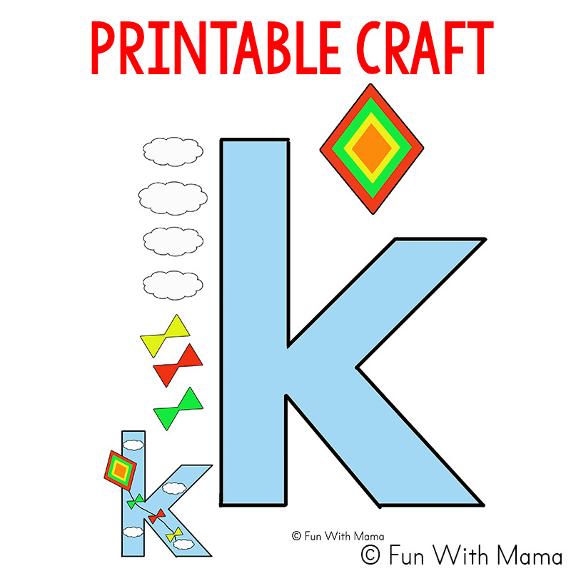 photograph about Letter K Printable called Letter K Worksheets - Entertaining with Mama