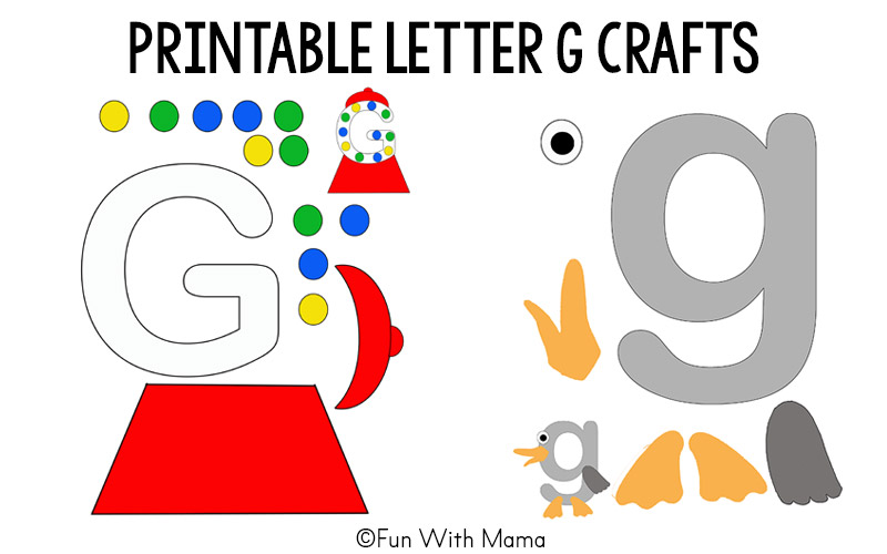 photo relating to Printable Arts and Crafts called Printable Alphabet Letter Crafts - Entertaining with Mama