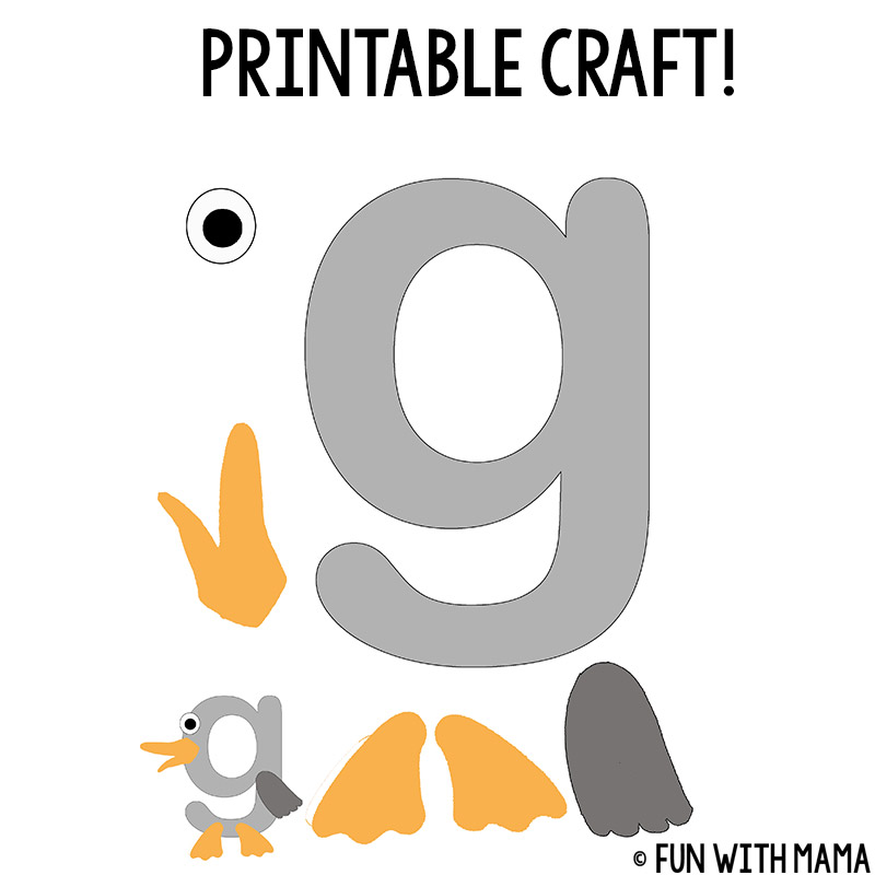 photo relating to Letter G Printable referred to as Letter G Worksheets - Entertaining with Mama