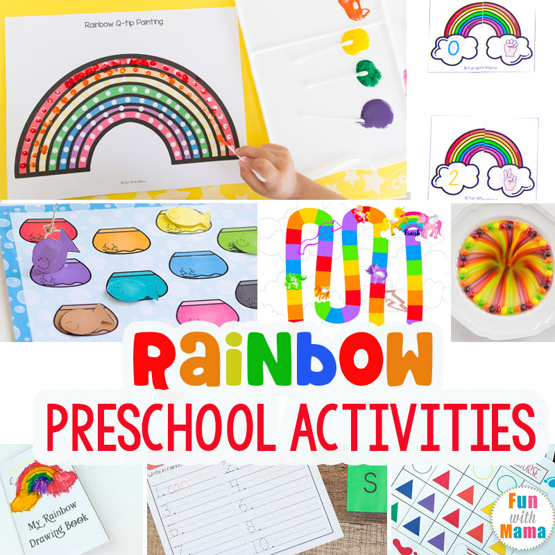 The best rainbow learning activities for preschoolers for Educational crafts for preschoolers