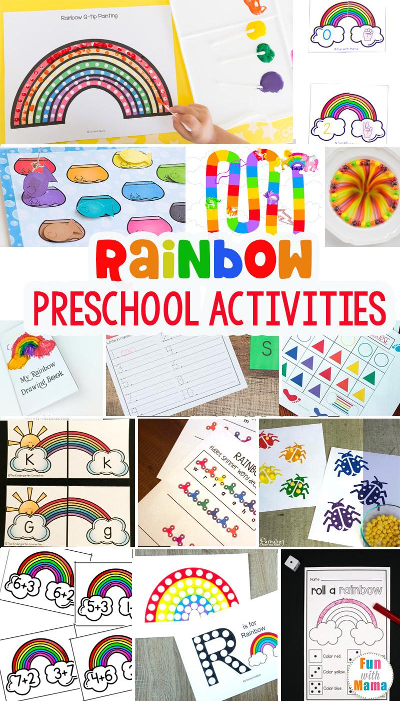 rainbow preschool learning activities
