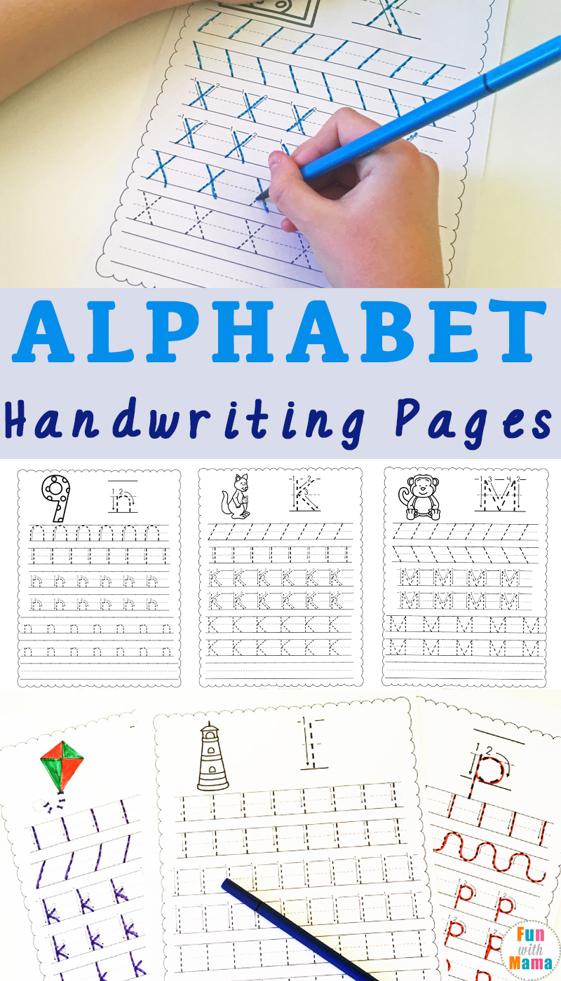 handwriting practice with handwriting worksheets