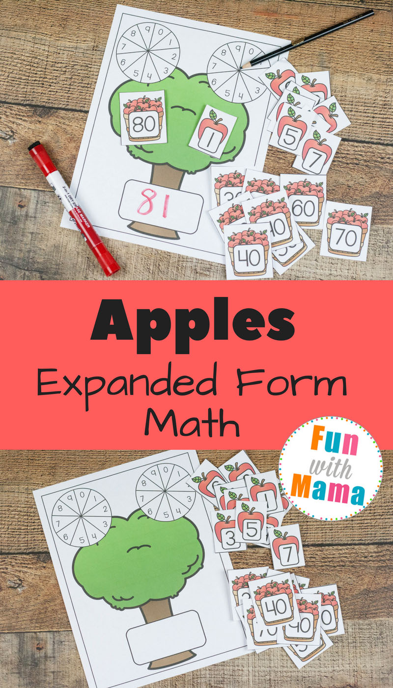 Enhance Math Understanding with Apple Themed Expanded Form. Expanded form math helps kids understand numbers in a better way.