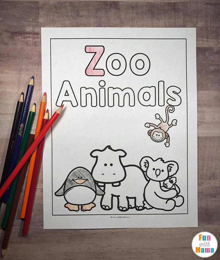 Zoo Coloring Page - Inspired By Goodnight Gorilla