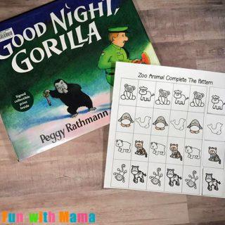 Goodnight Gorilla Zoo Animal Patterns Printable
