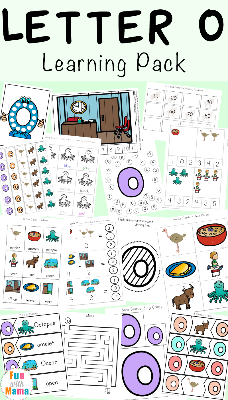 photo regarding O Printable identify Letter O Worksheets and Routines Pack - Pleasurable with Mama