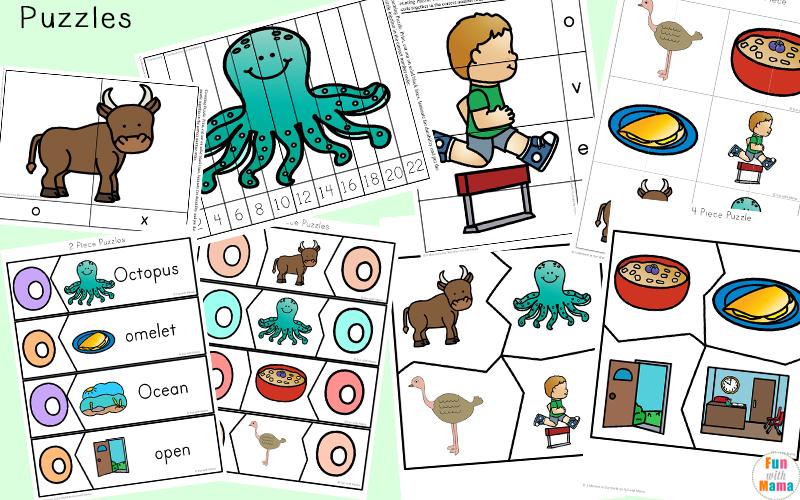 letter o phonics worksheets