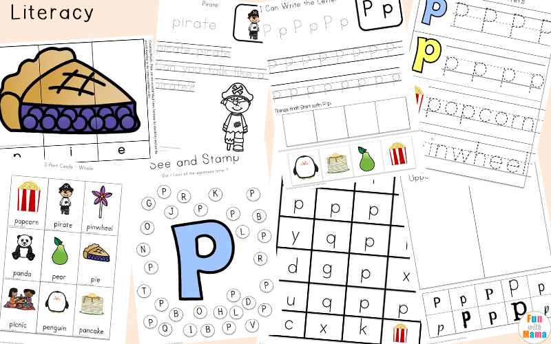 letter p vocabulary words