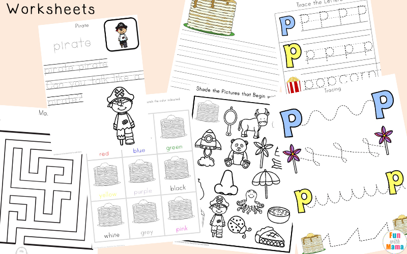Letter P Worksheets Printables Fun with Mama – Letter P Worksheets