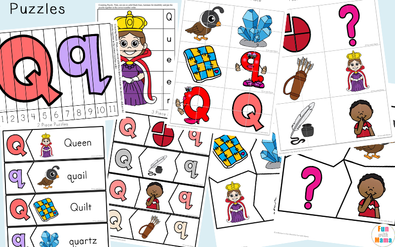 photo regarding Letter Q Printable referred to as Letter Q Preschool Printable Pack - Exciting with Mama