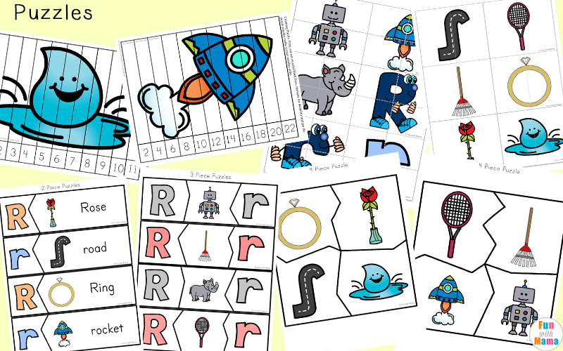 letter r word cards