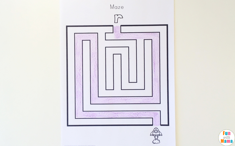 Fun Learning Games For Kids - Letter R Maze With Upper and Lowercase Letters