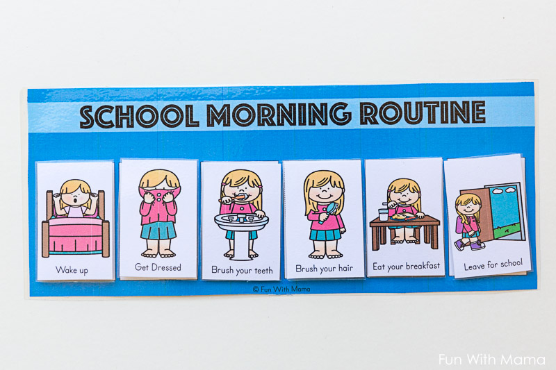 how to make a morning routine for school