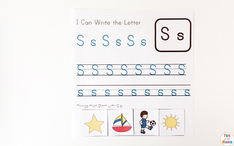 Letter S Letter Recognition and Handwriting Free Printable