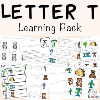 Letter T Worksheets for Preschool and Kindergarten