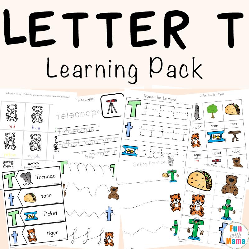 Letter T Worksheets For Preschool And Kindergarten Fun