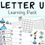 Letter U Worksheets for Preschool + Kindergarten Pack