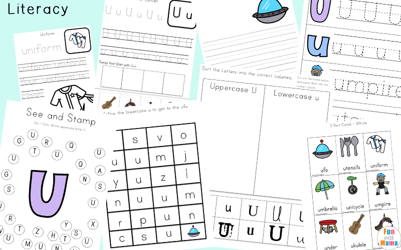Uppercase and lowercase letter u sorting worksheet