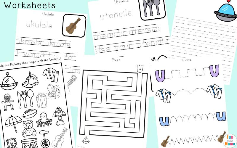 letter u worksheets