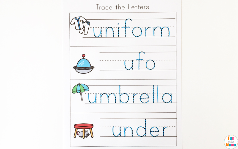Letter U Worksheets for Preschool + Kindergarten Pack - Fun ...