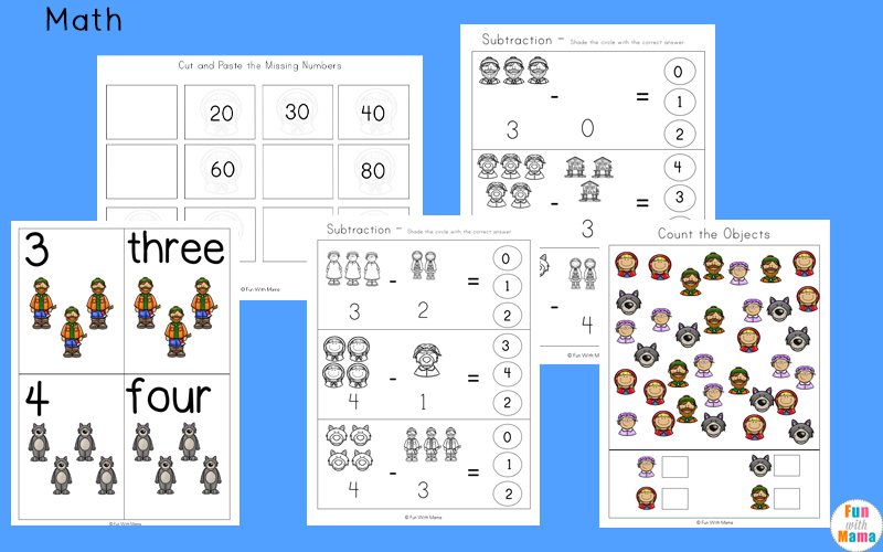 little red riding hood sequencing pictures