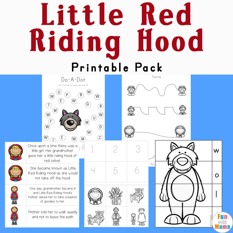 Agile image in little red riding hood story printable