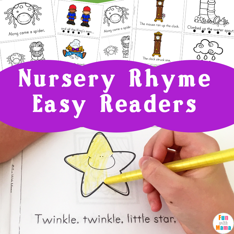 image regarding Printable Nursery Rhyme titled Nursery Rhyme Uncomplicated Reader Guides - Enjoyment with Mama
