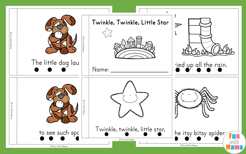 image relating to Printable Mini Booklets named Nursery Rhyme Basic Reader Guides - Enjoyment with Mama