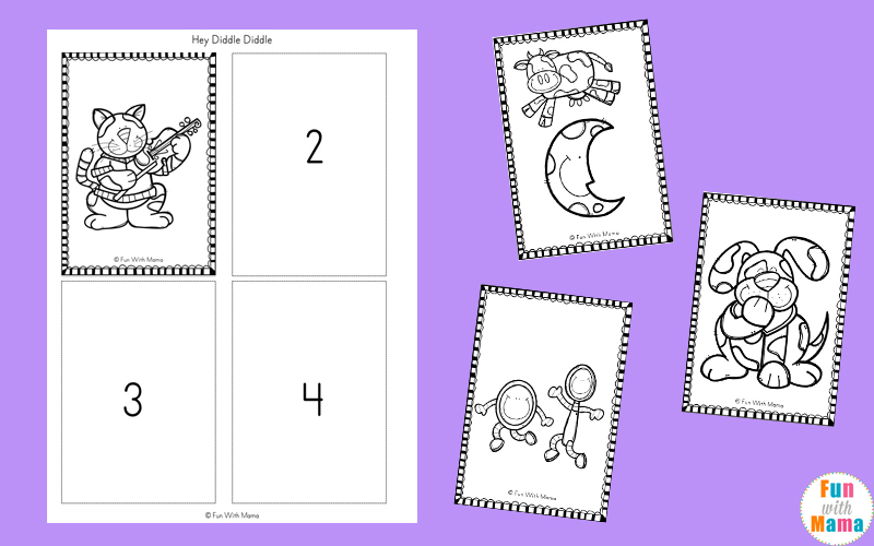 nursery rhymes sequencing activities