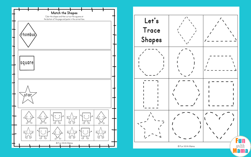 Tracing Shapes Worksheets Fun With Mama