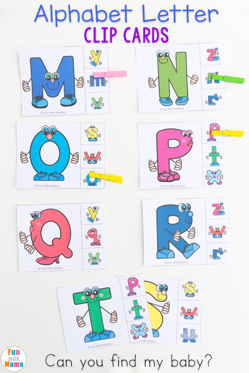 image about Alphabet Matching Game Printable named Uppercase and Lowercase Letter Matching Clip Playing cards - Enjoyment