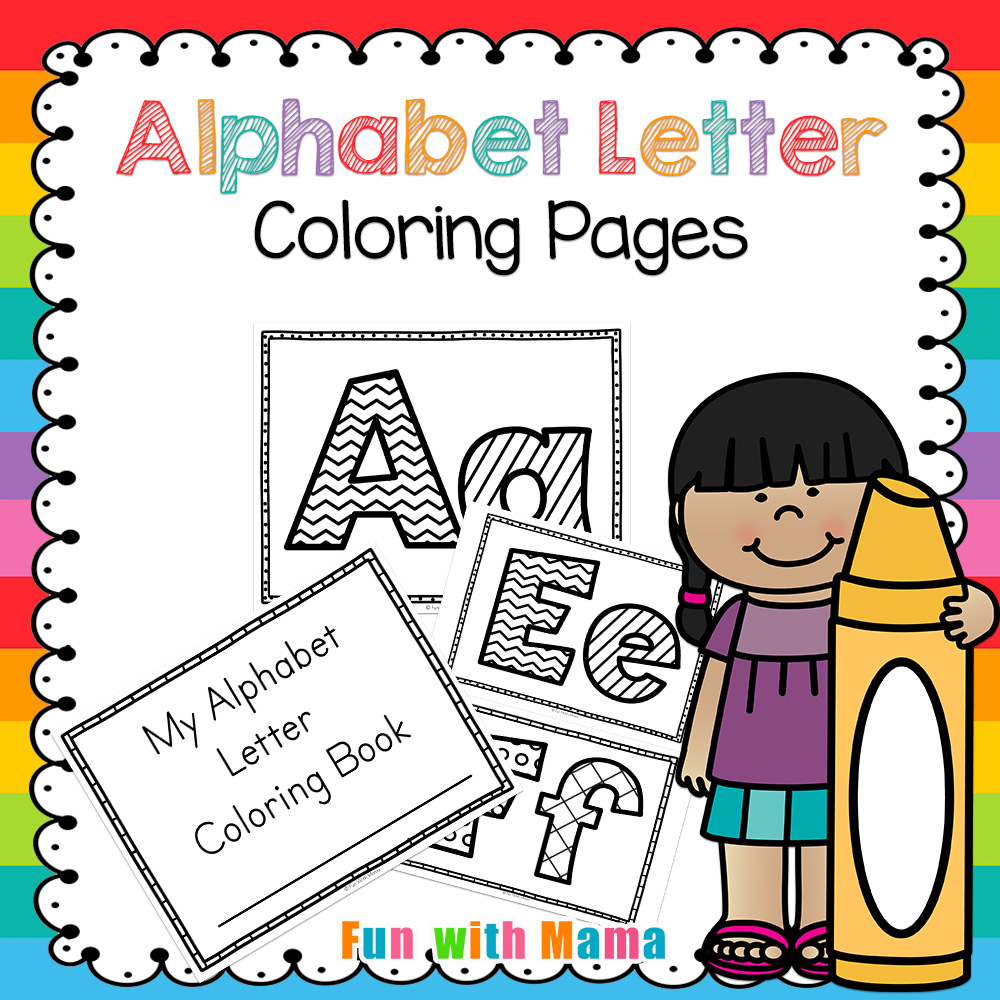 alphabet letter coloring pages book fun with mama