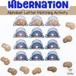 Hibernation Preschool Alphabet Letter Matching Activity