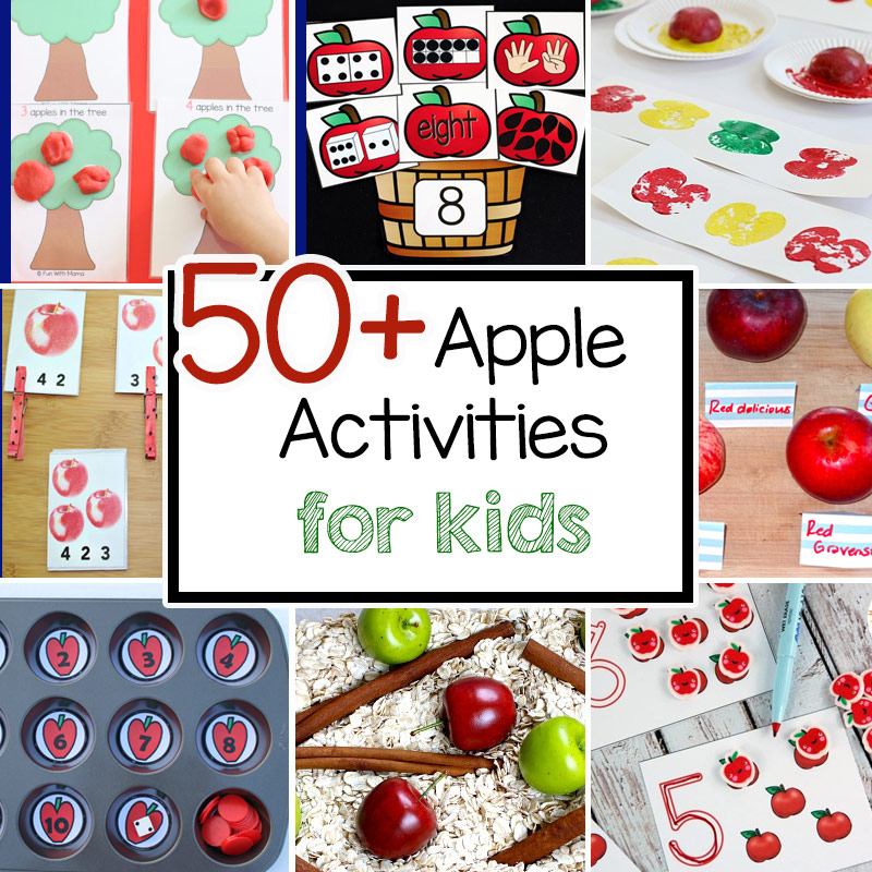 50 Fun Apple Activities For Preschoolers Kindergarten