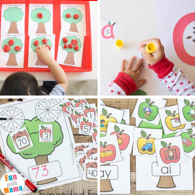 50+ Fun Apple Activities For Preschoolers + Kindergarten